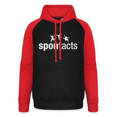 spontacts_Logo_weiss - Unisex Baseball Hoodie