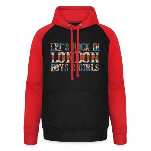 LET'S ROCK IN LONDON - Felpa da baseball con cappuccio unisex