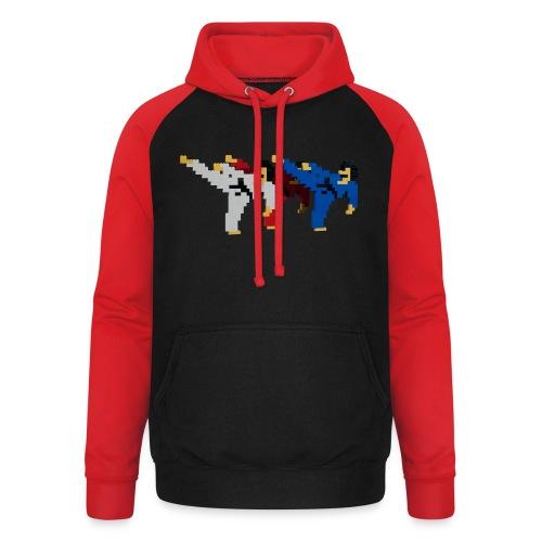 8 bit trip ninjas 2 - Unisex Baseball Hoodie