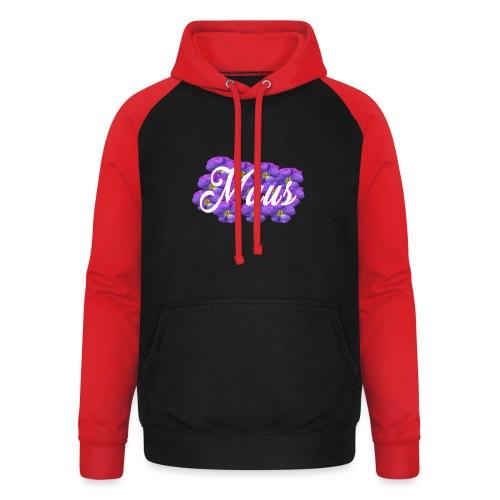 MAUS Vrouwen Opgerolde Mouwen - Unisex baseball hoodie