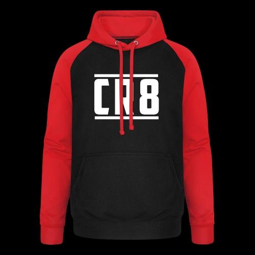 CR8 Hoodie - Black - Unisex Baseball Hoodie