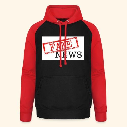 fake news - Unisex Baseball Hoodie