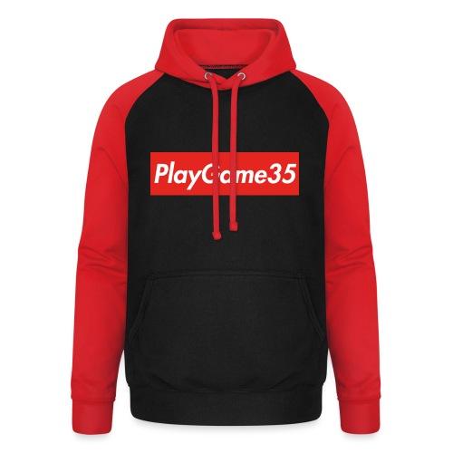 PlayGame35 - Felpa da baseball con cappuccio unisex
