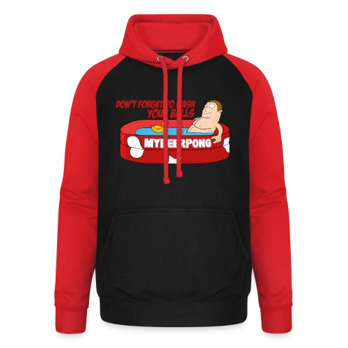 Don´t forget to wash your Balls - Unisex Baseball Hoodie