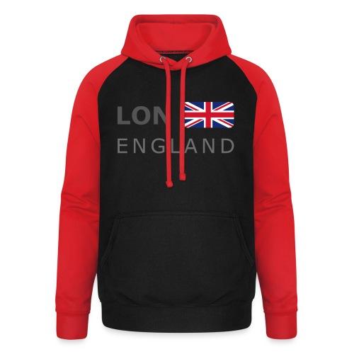 LON ENGLAND BF dark-lettered 400 dpi - Unisex Baseball Hoodie
