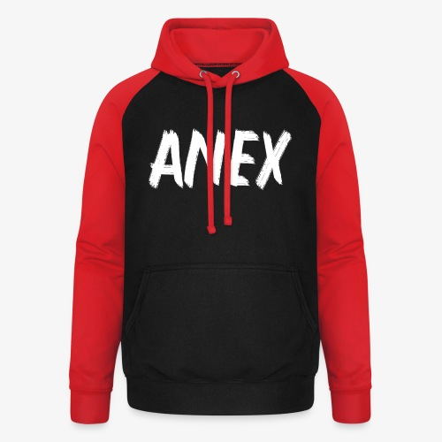 V-neck T-Shirt Anex white logo - Unisex Baseball Hoodie