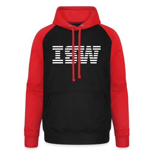 iswlogo wit - Unisex baseball hoodie