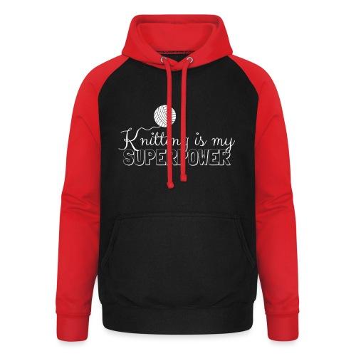 Knitting Is My Superpower - Unisex Baseball Hoodie