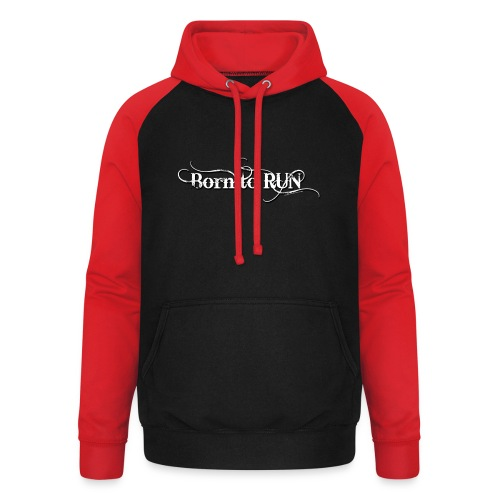 Born-to-RUN---Logo---White.png - Unisex Baseball Hoodie