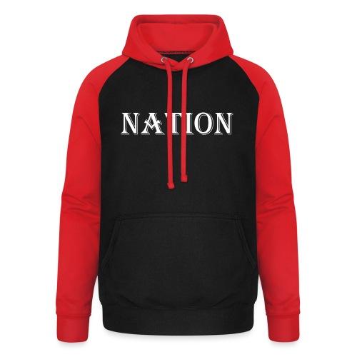 Nation - Unisex baseball hoodie