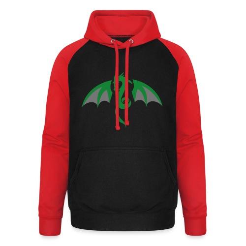 Red eyed green dragon - Unisex baseball hoodie
