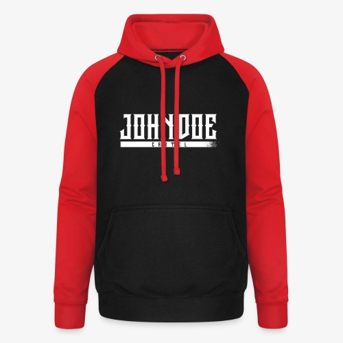 logo john doe blanc - Sweat-shirt baseball unisexe