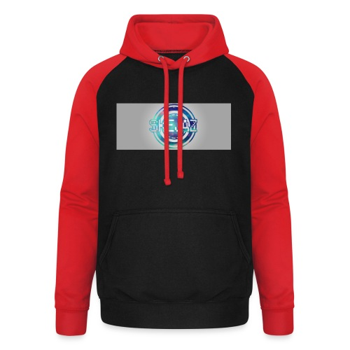 LOGO WITH BACKGROUND - Unisex Baseball Hoodie