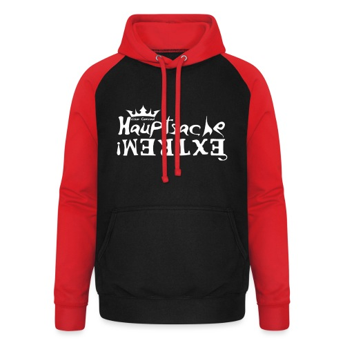 Hauptsache EXTREM - weiss - Unisex Baseball Hoodie