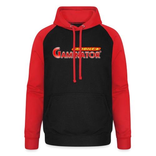 Gaminator logo - Unisex Baseball Hoodie