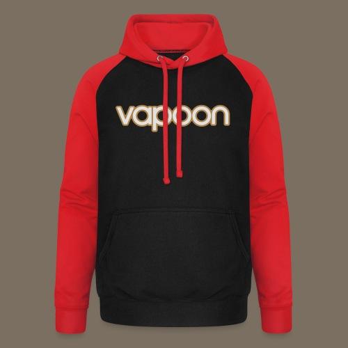 Vapoon Logo simpel 2 Farb - Unisex Baseball Hoodie