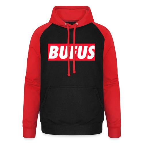 BUFUS - Felpa da baseball con cappuccio unisex