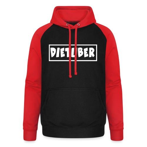 DieTuber Logo weiss - Unisex Baseball Hoodie