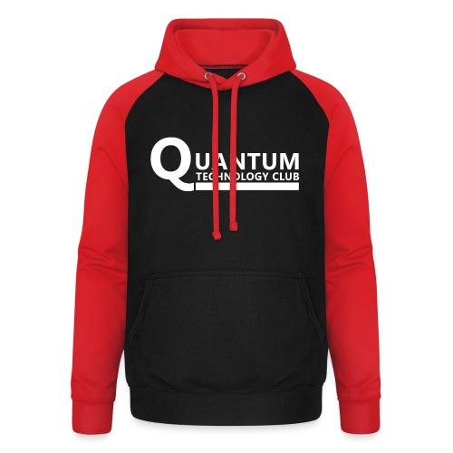 Quantum Tech logo (w) - Unisex Baseball Hoodie