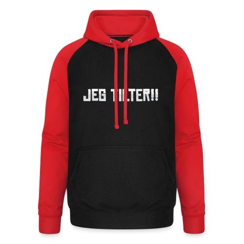 Jeg TILTER! - Unisex baseball hoodie