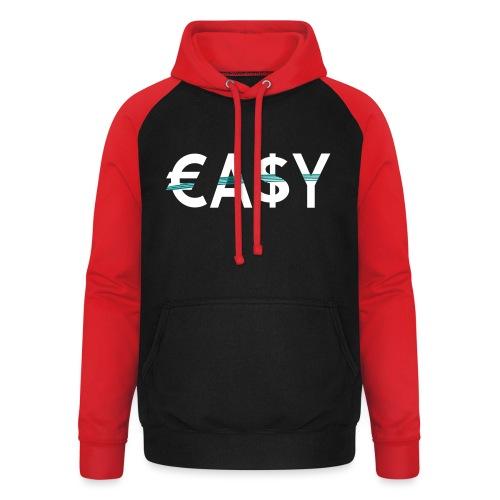 EASY - Sudadera con capucha de béisbol unisex
