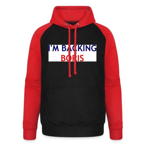 Backing Boris - Boxer Shirts - Unisex Baseball Hoodie