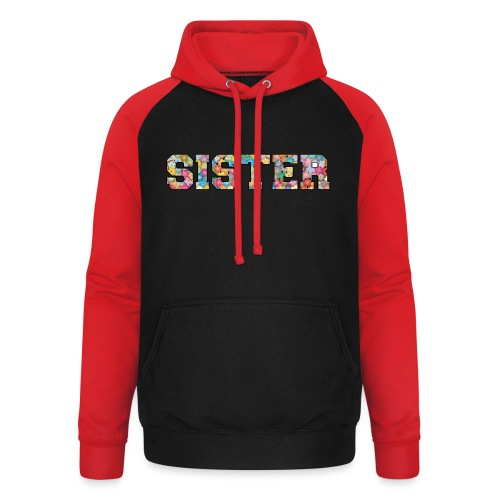Sister Schwester beste Freundin Geschenkidee - Unisex Baseball Hoodie