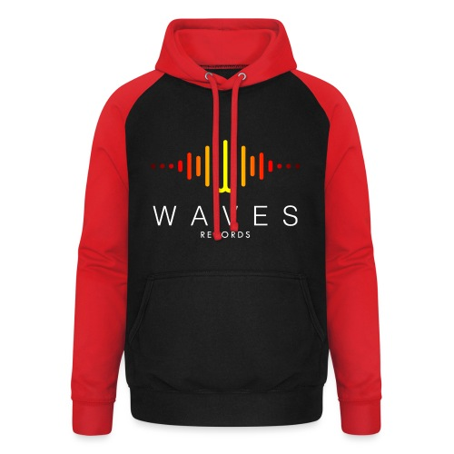 WAVES - Waves Records spettro sonoro - Felpa da baseball con cappuccio unisex