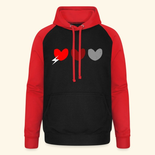 3hrts - Unisex baseball hoodie