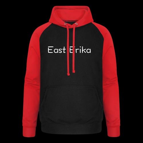 East Erika logo - Felpa da baseball con cappuccio unisex