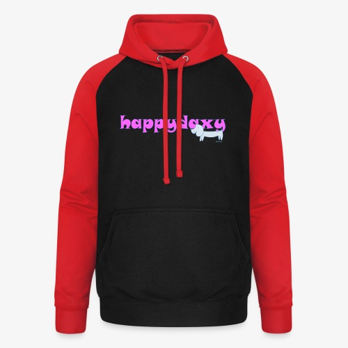 Happy Daxy Pink by Sue Anderson - Unisex Baseball Hoodie