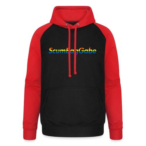 ScumBagGabe Multi Logo XL - Unisex Baseball Hoodie