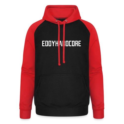 EddyHardcore logo nek transparant png - Unisex baseball hoodie