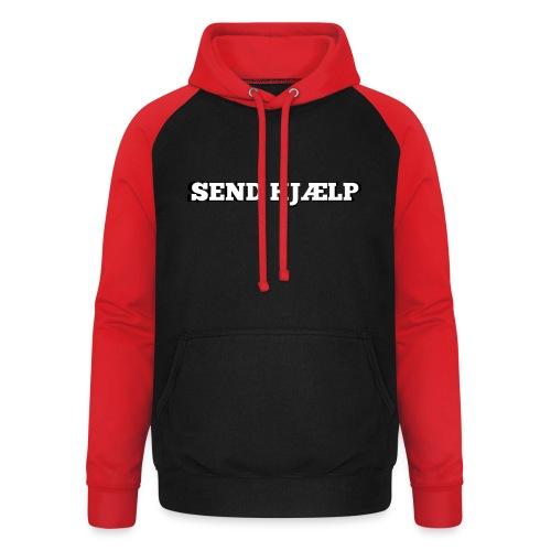 SEND HJÆLP T-shirt - Unisex baseball hoodie