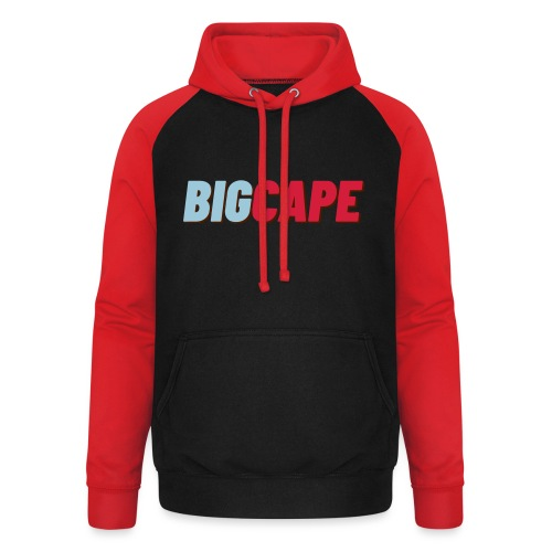 BIG CAPE blue red big - Unisex baseball hoodie