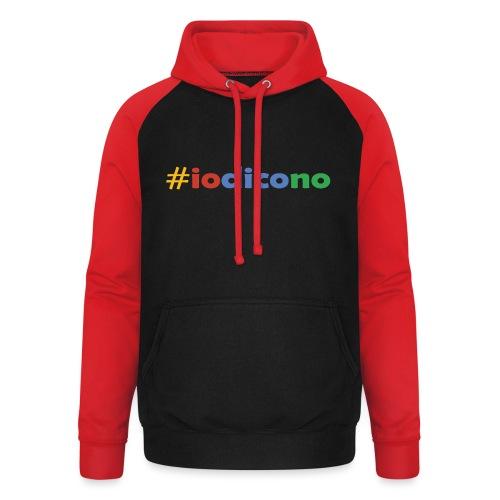 #iodicono - Felpa da baseball con cappuccio unisex