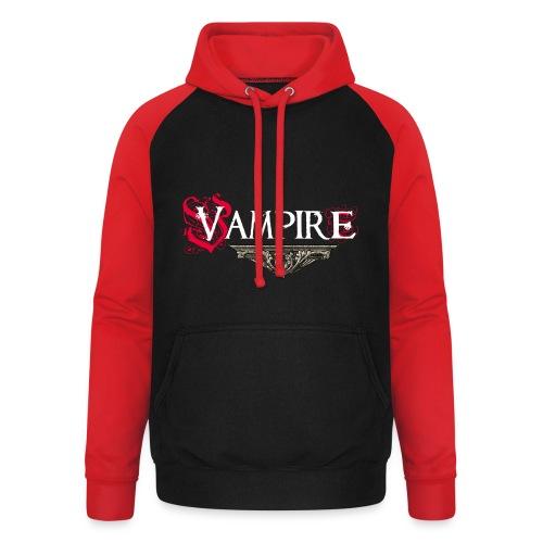 Vampire - Felpa da baseball con cappuccio unisex