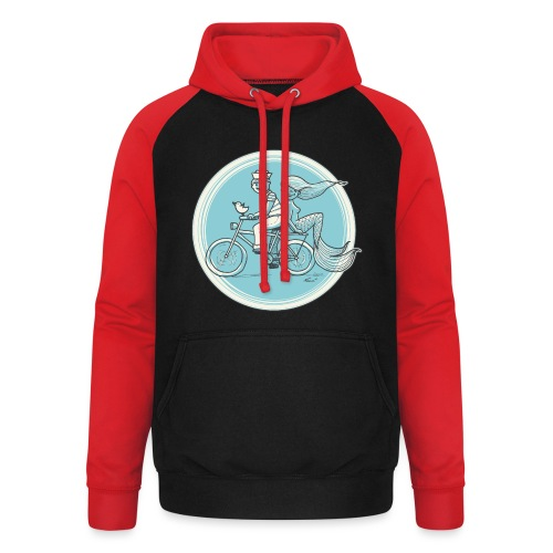 To the Beach - Backround - Unisex Baseball Hoodie