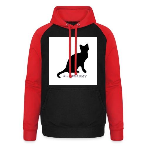 #pjoesarmy met poes - Unisex baseball hoodie