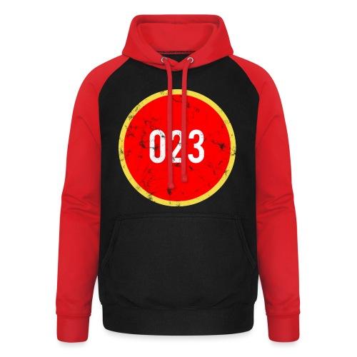 023 logo 2 washed regio Haarlem - Unisex baseball hoodie
