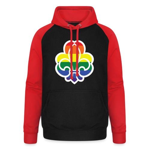 Regnbuespejder jakker og t-shirts mv - Unisex baseball hoodie