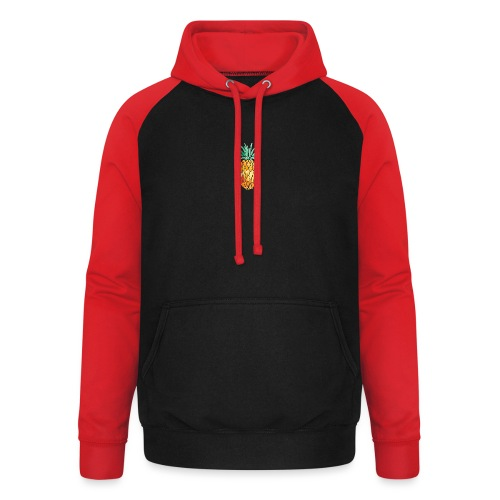 pinety logo print - Unisex baseball hoodie