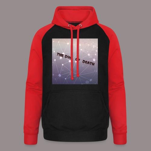 The duo of death logo - Unisex baseball hoodie