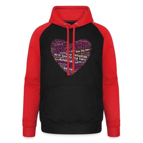 Hjerte - Unisex baseball hoodie