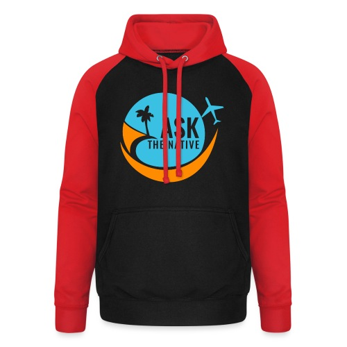 Ask the Native Original Logo - Unisex baseball hoodie