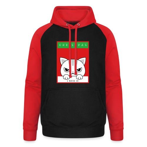 Ik haat kerstmis boze kat - Unisex baseball hoodie