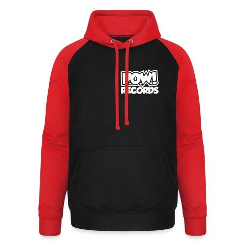 POW Logo Black White - Unisex baseball hoodie