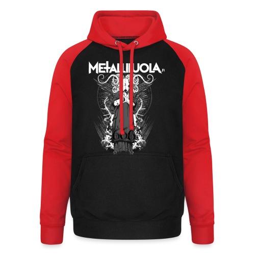Metalliluola logo ja Demoniac 666 - Unisex baseball-huppari