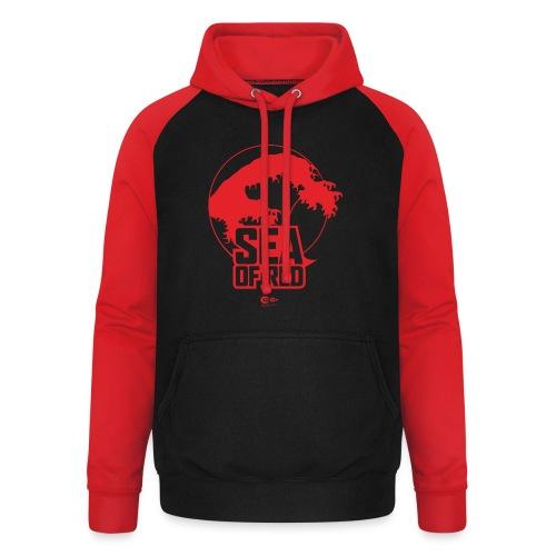Sea of red logo - red - Unisex Baseball Hoodie