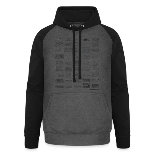 Synth Evolution T-shirt - White - Unisex Baseball Hoodie